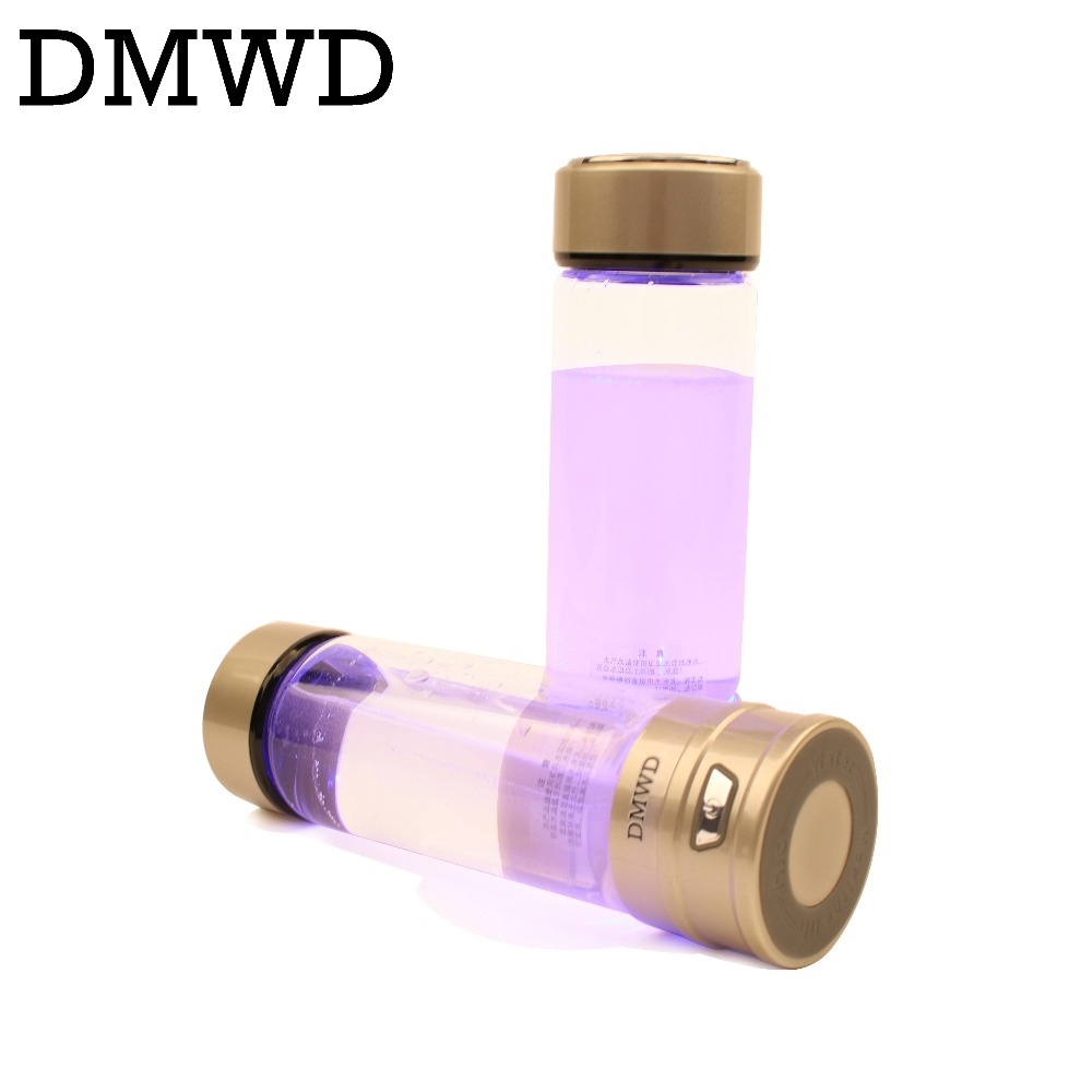 Rechargeable Rich Hydrogen Water Generator electrolysis Energy Hydrogen-rich Antioxidant ORP H2 Water Ionizer Glass Bottle cup rich