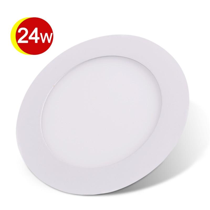 ФОТО SMD2835 LED Light 24W Round LED Panel Downlight Light 110V 220V Recessed LED Downlight Energy Saving Bathroom Lamp