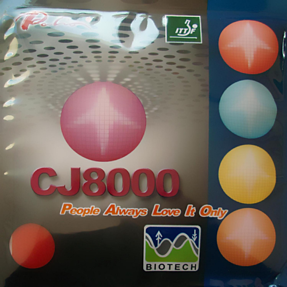 <font><b>Palio</b></font> <font><b>CJ8000</b></font> <font><b>BIOTECH</b></font> 2-Side Loop Type pips-in table tennis rubber with sponge H36-38 image