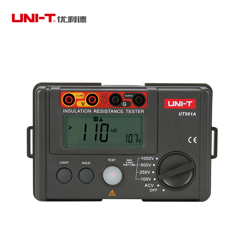 LCD Backlight Display UNI-T UT501A 100V--1000V megger Insulation earth ground resistance meter Tester Megohmmeter Voltmeter