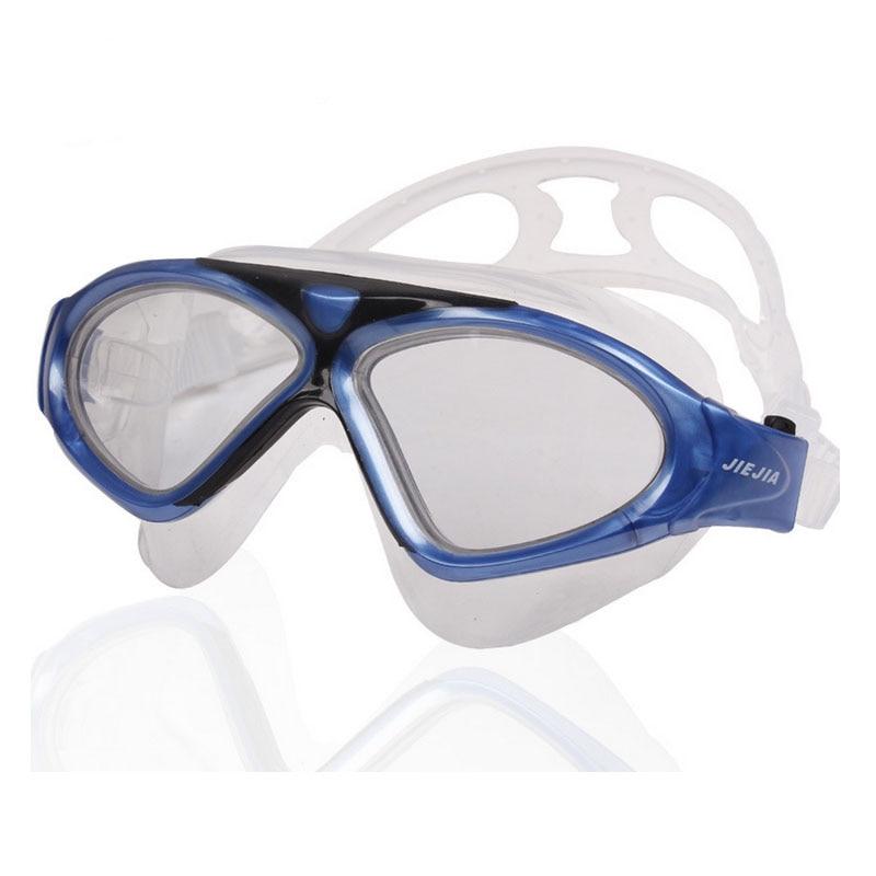 JIEJIA Swimming Glasses Clear Version Diving Goggles Professional Anti-Fog Sport Eyewear Super Big Adult Waterproof Swim Glasses