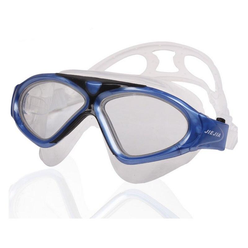 Jiejia óculos de natação profissional anti-nevoeiro uv esporte eyewear super grande arena natação óculos adulto óculos de natação à prova dwaterproof água