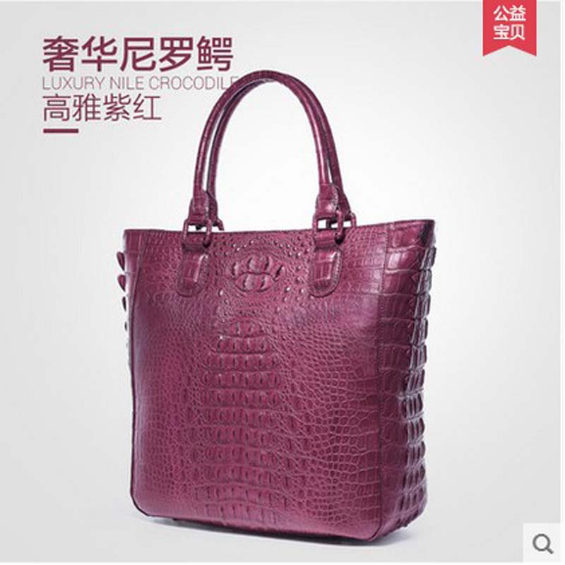 Gete new fashion luxury crocodile handbag Europe and the United States leather contracted middle-aged party bag handbag female b world music pedagogy in the united states middle school