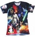 Mulheres / homens camisas Star Wars Lightsaber Anakin Skywalker 3D tshirt O pescoço t-shirt Tops de T Shirt plus size S-3XL frete grátis