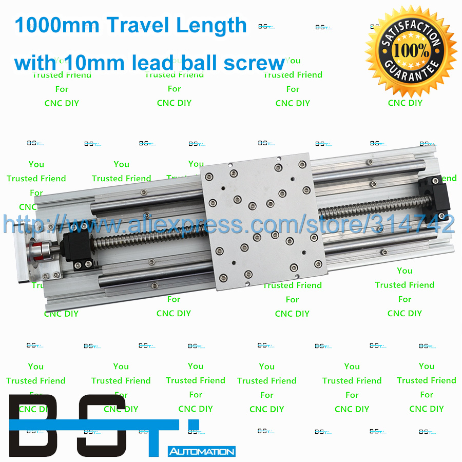 Linear Stage Actuator Stage 1000mm Travel Length Linear Moudle with 1610 Ballscrew for DIY CNC Router