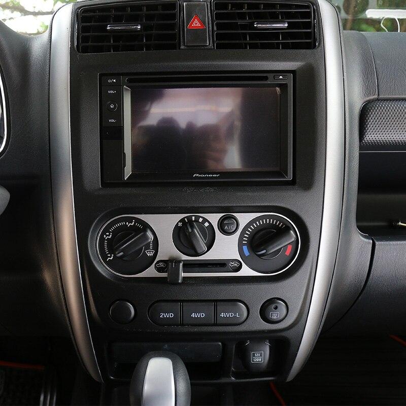 SHINEKA En Alliage D'aluminium AC Vent Air Conditionné Bouton Interrupteur Panneau Décoratif Cover Version Cadre Autocollant pour Suzuki Jimny