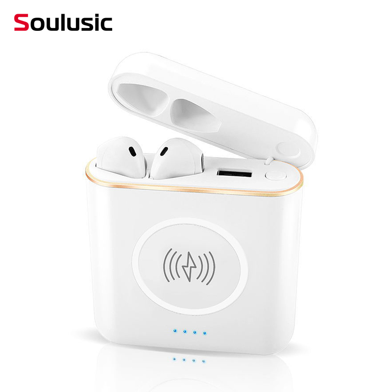 Soulusic XT6 TWS 3 In 1 Stereo Wireless Bluetooth Earphone Big Power Bank Headphone Charging Box Charger External Battery Pack