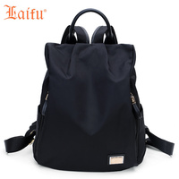 Laifu Brand Design Women Nylon Travel Bag Girls Lightweight Backpack Fashionable Waterproof Traveling Shopping Black