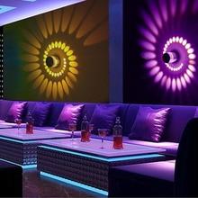RGB спиральный с отверстиями светодиодный настенный светильник эффект настенный светильник с пультом дистанционного управления красочные Wandlamp для вечерние лобби KTV украшение дома