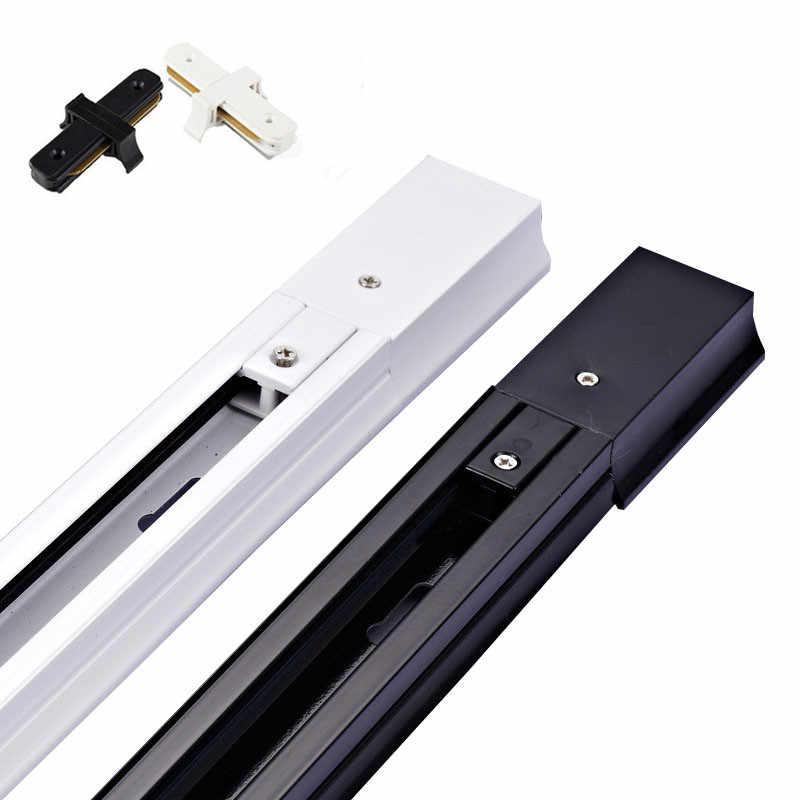 2 шт./лот 0,5 м 1 м черный белый 2 направляющая провода прямой крест соединитель Столярный для 2 провода светодиод для трекового светильника прожекторы рельсы