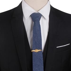 Tie Clip For Men Classic Meter Tie Pin Copper Tie Bar Quality Enamel Tie Collar Pin Crystal Business Corbata