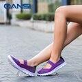Señora Púrpura pisos estilo de La Calle de las mujeres del verano sandalias dulces de lujo hecho a mano tejida zapatos color de la mezcla Niñas marca de lujo cesta de femme