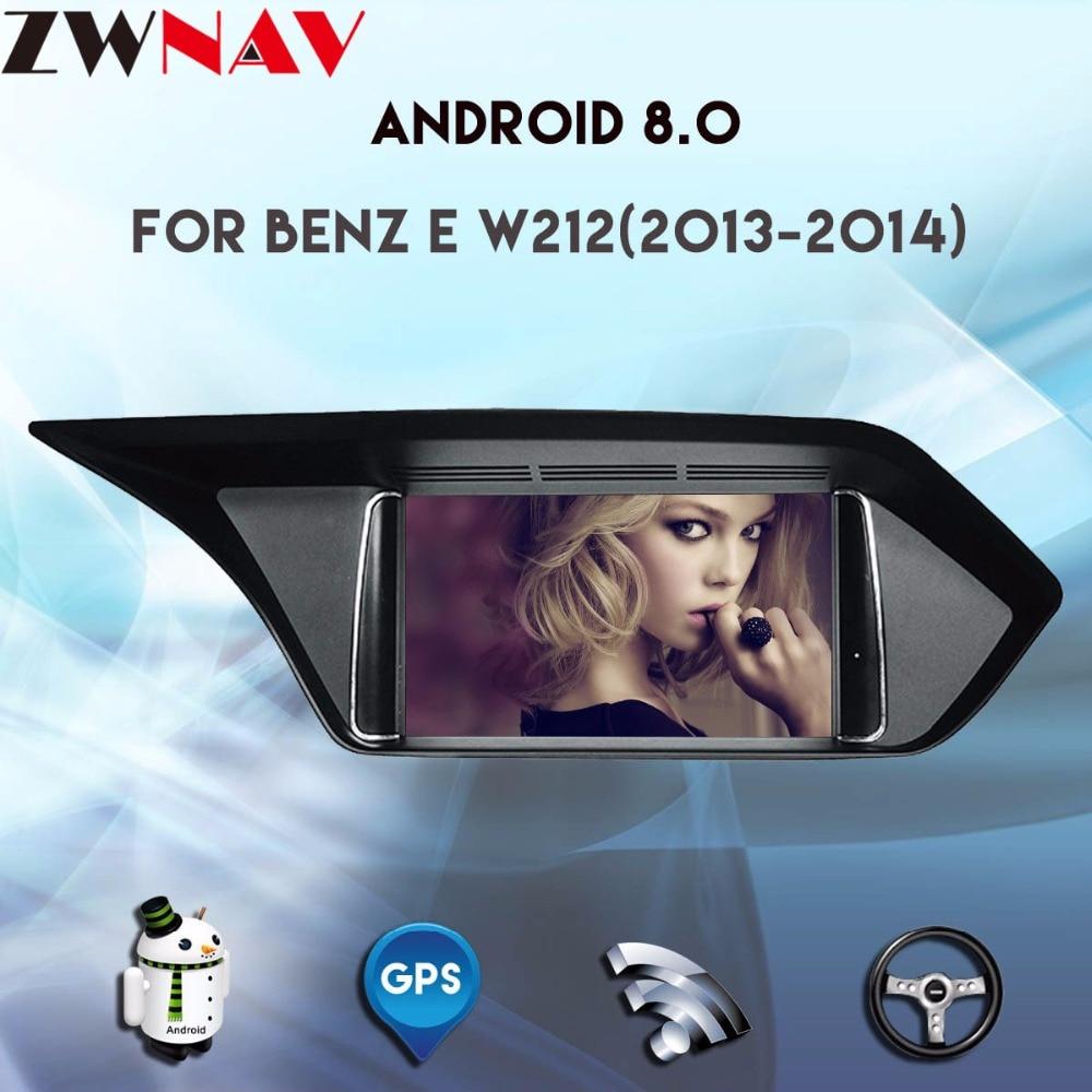 8 Core 4 gb RAM Android 8.0 pour Mercedes-Benz E W212 2013 2014 7 écran tactile GPS navigation radio stéréo dash lecteur multimédia