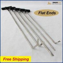 цена на Auto PDR Paintless Hail Rods Kit Flat End Dent Puller Repair Tools 5pcs  ROD-F005WD