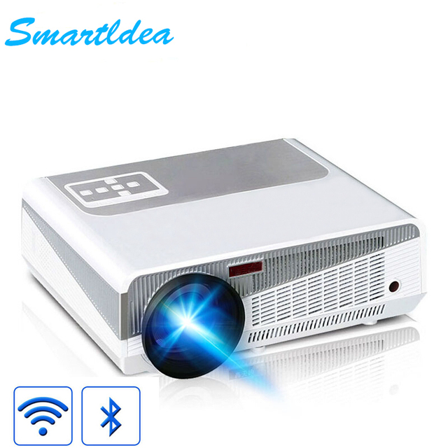 SmartIdea 5500lumen Android 4.4 HD LED Wifi Smart Projector 230W 3D home theater LCD Video Proyector Game Beamer  Bluetooth 4.0