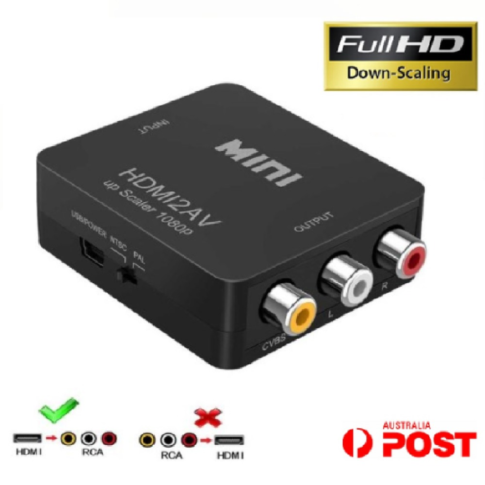 Computer-peripheriegeräte Mini Hdmi Zu Rca Composite Av Konverter Cvbs 3rca Video Kabel Adapter 1080 P Volle Hd Unten-skalierung Video Konverter Großhandel Moderne Techniken