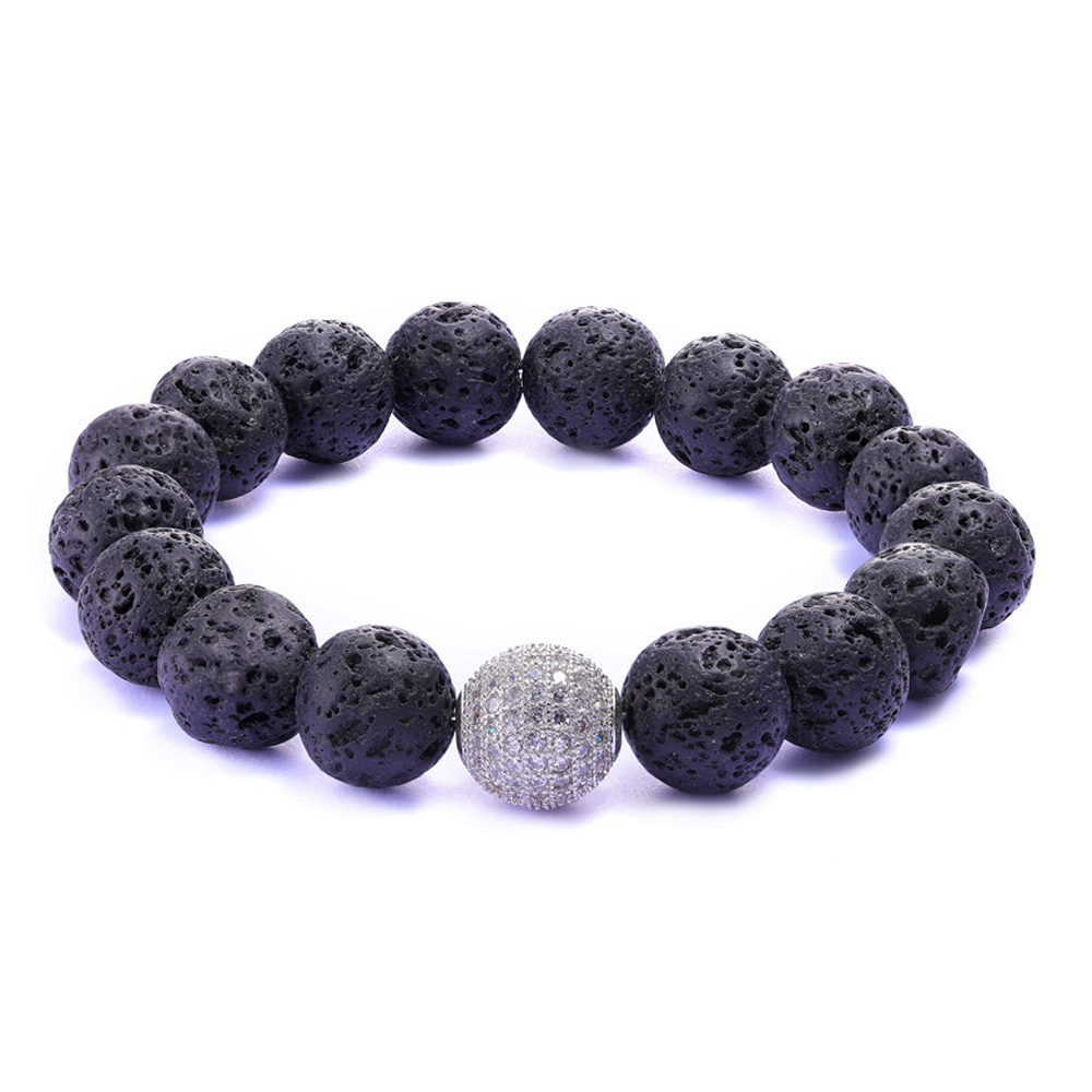 JUWANG-Wholesale-Bracelet-Black-Volcanic-Lava-Stone-12mm-White-Beaded-For-Men-Bracelets-Fashion-Jewelry