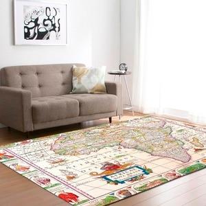 Image 5 - גדול מפת עולם שטיחים שטיח שינה ילדים תינוק לשחק זחילה מחצלת זיכרון קצף אזור שטיחים שטיח לסלון בית דקורטיבי