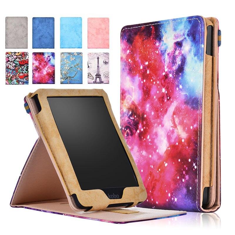 Magnet Smart Sleep Wake Case For Kobo Clara HD 2018 6inch Stand Full Protective Tablet Cover For Funda Kobo Clara HD 2018 Case