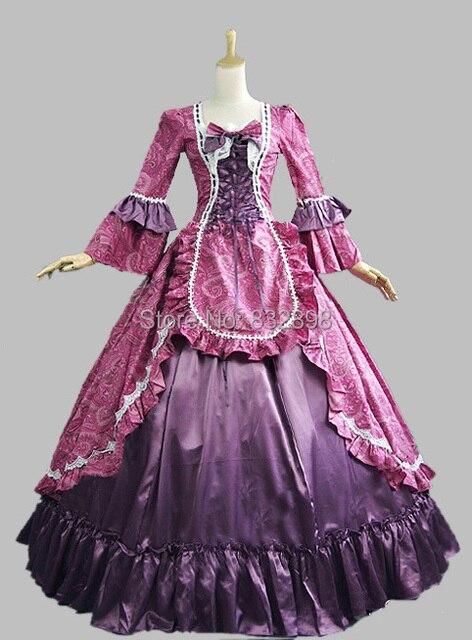 De Vestido Victoriana época Satén Gótico Renacimiento
