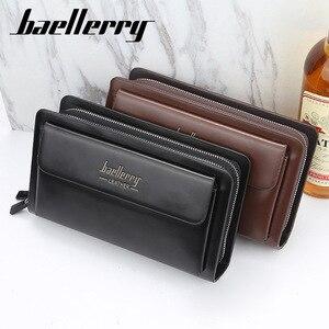 Image 5 - Высококачественный мужской клатч, бумажники большой вместимости, деловые мужские бумажники, Карманный Кошелек для мобильного телефона, кошелек для мужчин 2020