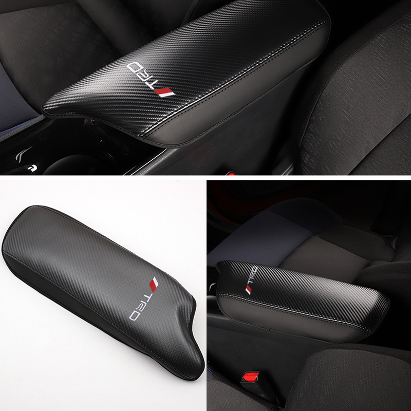 Car Styling 1 Piece Interior Leather Armrest Box Protection Cover Cushion Pad For Toyota C-HR CHR 2016 2017 2018 2019