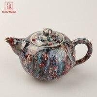 ZGJGZ Colorful Teapots High Temperature Colored Glaze Tea Kettle Small Green Tea Pot 250 ML Great