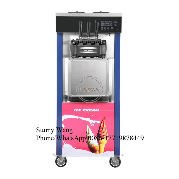 KN-8226 20-28L/H 3 Flavor Soft Ice Cream soft Machine/ice cream machine soft serve for Sale with free shippingKN-8226 20-28L/H 3 Flavor Soft Ice Cream soft Machine/ice cream machine soft serve for Sale with free shipping