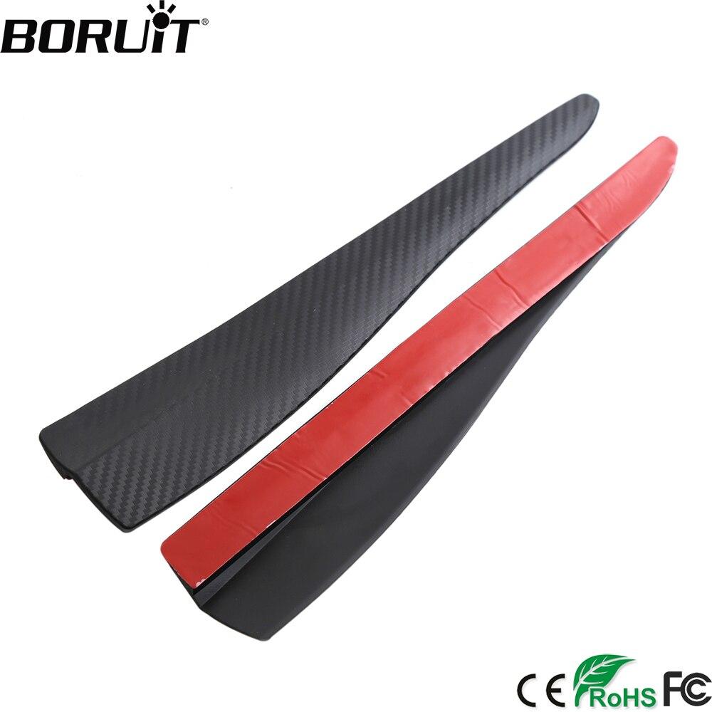 BORUiT Universal 2 stücke Auto Gummi Frontschürze Schutz Schutz Ecke Streifen Crash Bar Trim Schutz Tür Wachen Lip Deflektor