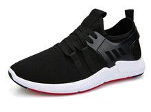 YeddaMavis Black Running Shoes 2019 Spring Fashion Men Sneakers Flying Fabric Mesh Air Lace Up Zapatos De Hombre