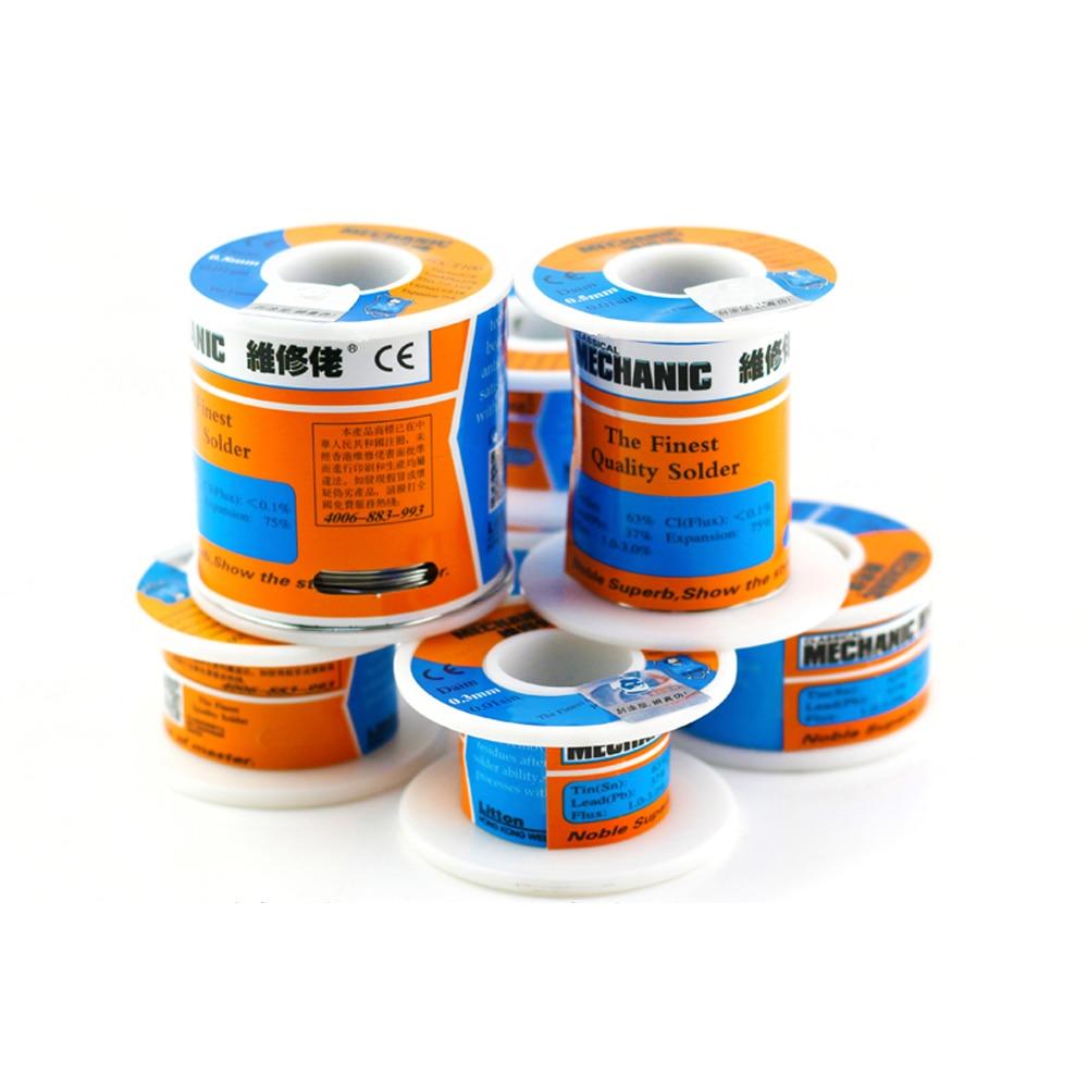 MECHANIC 500g Solder Silk low Temperature Rosin Flux 0.5 0.6 0.8 1.0mm Low Meltingl Point  Solder Wire Soldering Tin BGA Welding 2