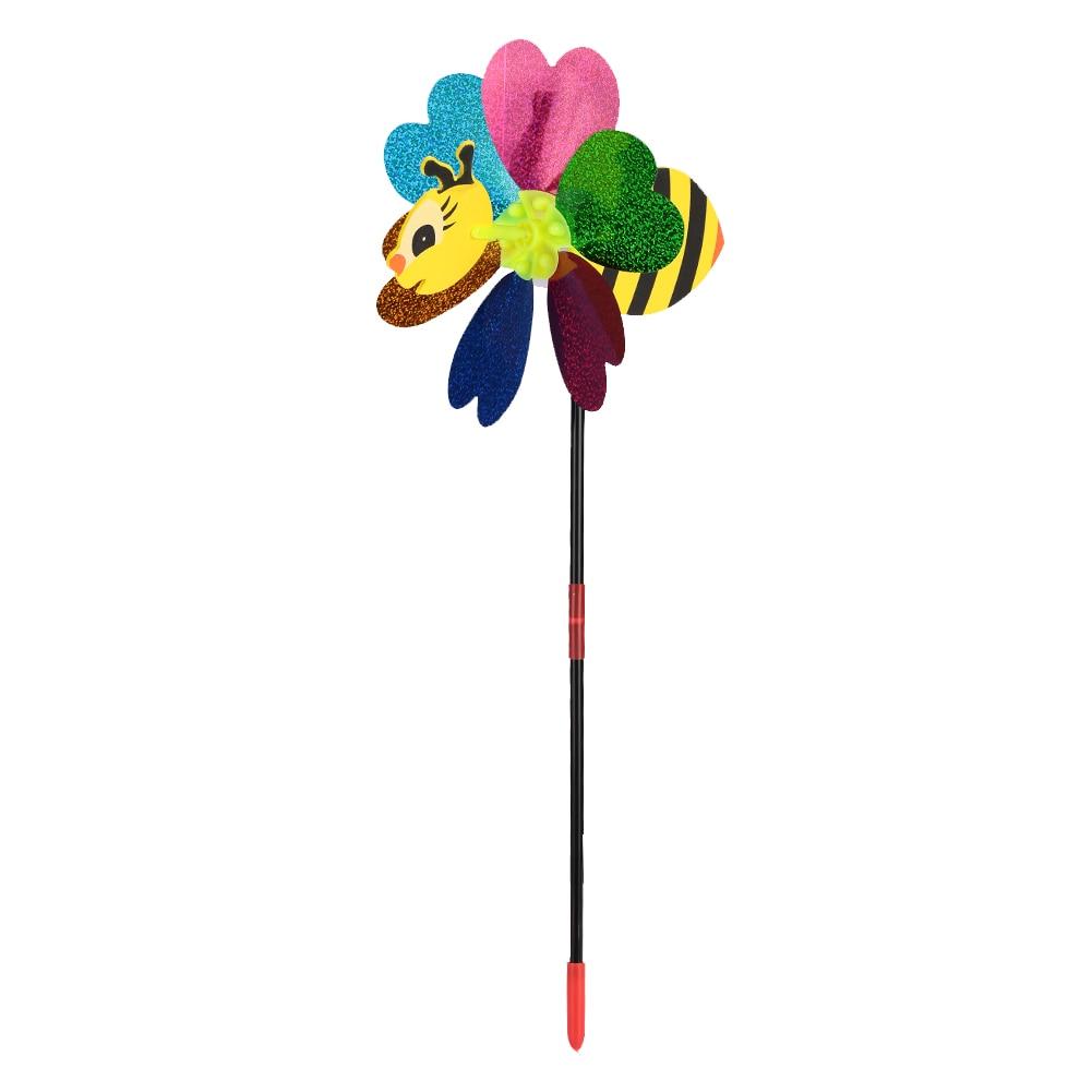 Пчела ветряная мельница ветряная вертушка наружная 3D цвет случайный прекрасный