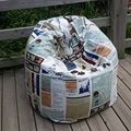 Graffiti cartoon characters style Bean Bag Chair Garden Camping Beanbags covers Lazy Sofa Anywhere Portable Sitting Cushion