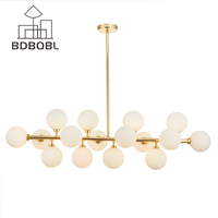 BDBQBL Moden Art Deco hanglamp Magic bean Led-lampen Lamp Eetkamer Winkel led Striplight glas hanglamp Armaturen GU4