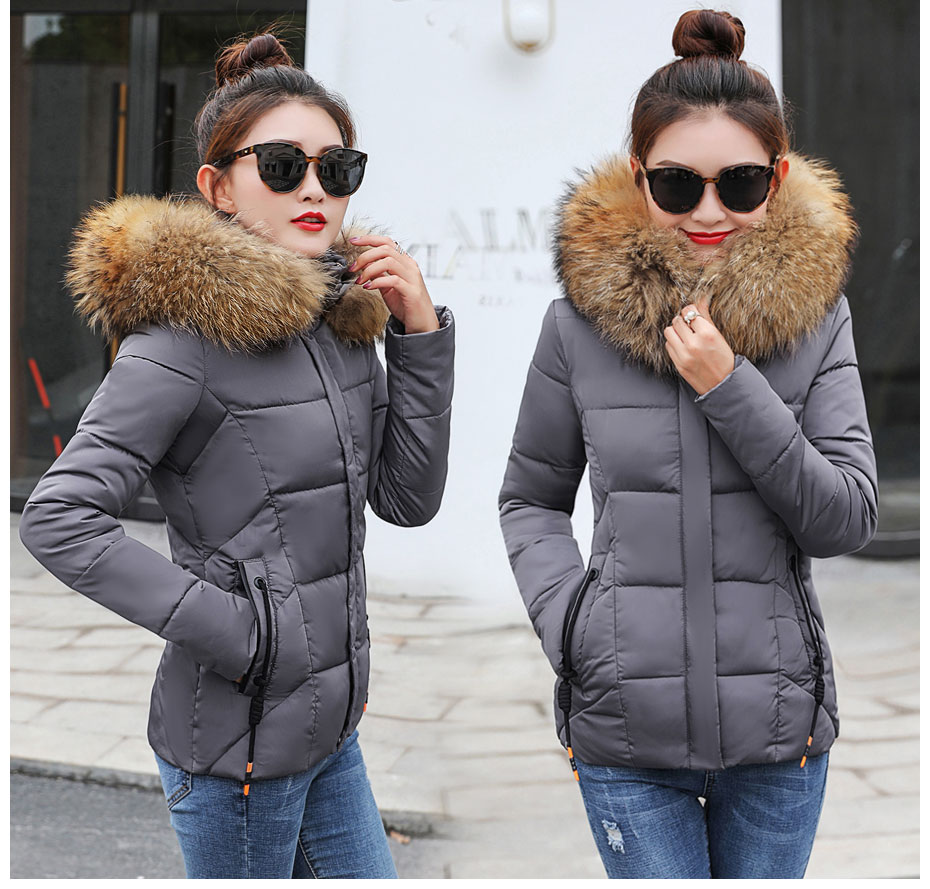 HTB12YNLFL5TBuNjSspmq6yDRVXas 2019 Winter Jacket women Plus Size Womens Parkas Thicken Outerwear solid hooded Coats Short Female Slim Cotton padded basic tops