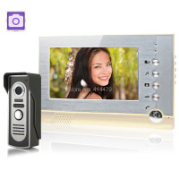 7 Inch LCD Video Intercom System Color Video Door Phone Doorbell Support Record Photo Taking Function
