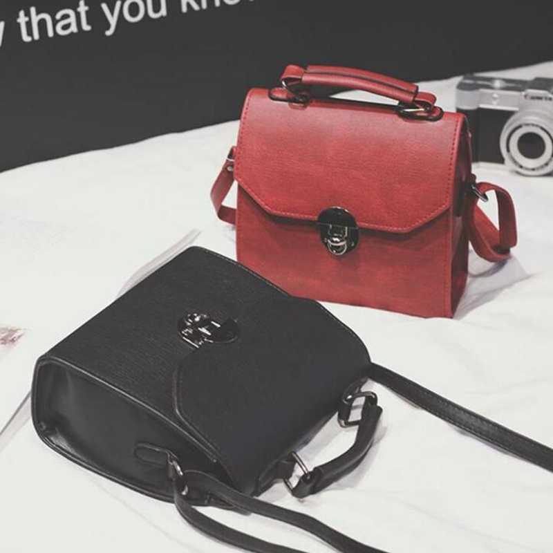 34d62a2dfd59 Free shipping, 2019 new woman mini handbags, trend messenger bag, simple  Korean version women bag, fashion retro flap F18