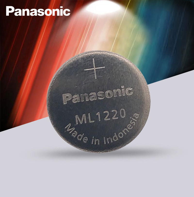 Original Panasonic ML1220 3V ML 1220 Rechargeable CMOS RTC BIOS Back Up Cell Button Coin Battery Batteries