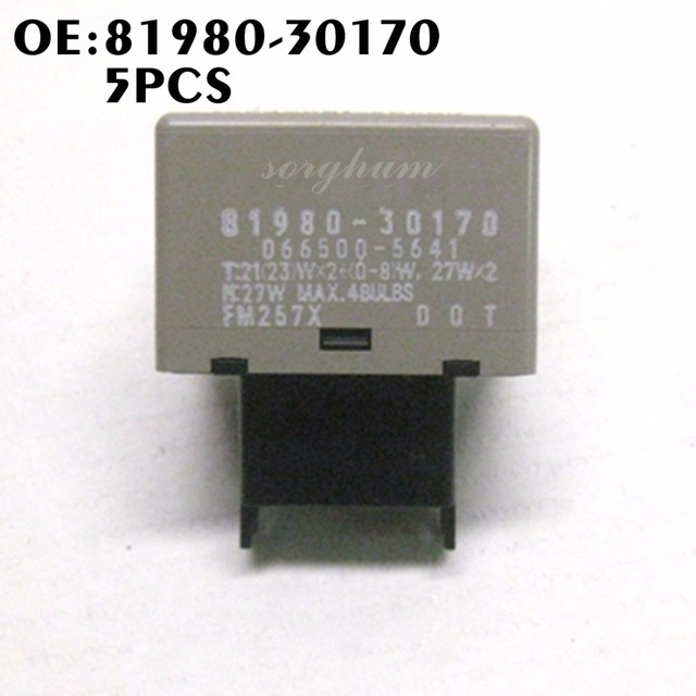 5pcs 81980 30170 Turn Signal Flasher Relay For Toyota Camry Crown Innova Kijang Fortuner