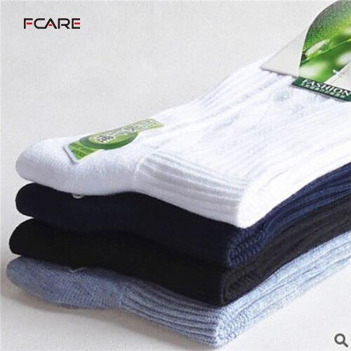 Fcare 10PCS=5 pairs bamboo fiber autumn winter stripe socks cotton sokken calcetines hombre meias masculino