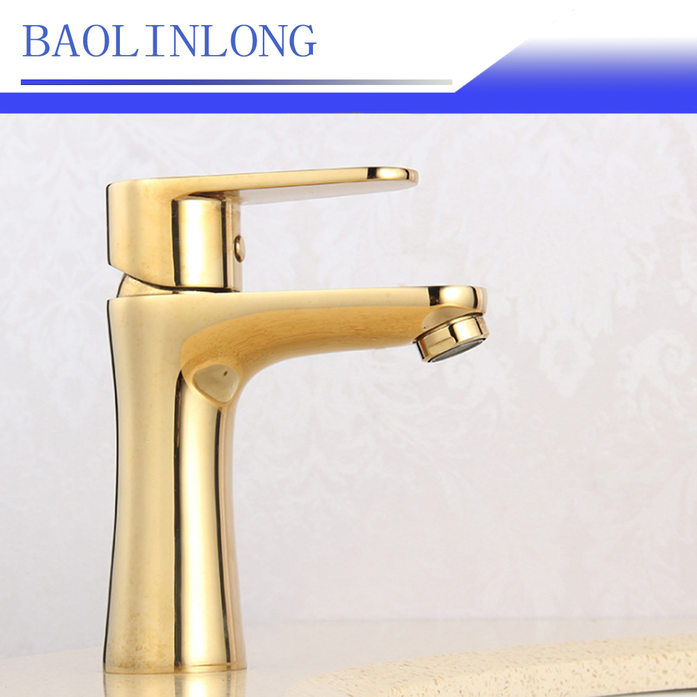 BAOLINLONG Style Brass Deck Mount Basin Bathroom Faucet Vanity Vessel Sinks Mixer Faucet Tap