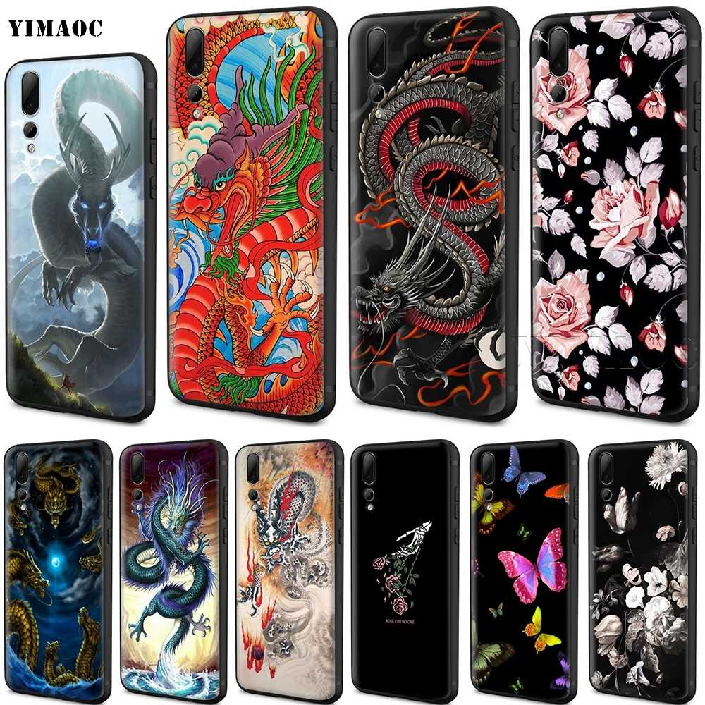 YIMAOC Chinese Dragon Silicone Case for Huawei Honor 6a 7a 7c 7x 8 9 10 Lite Pro Y6 2018 2017 Prime