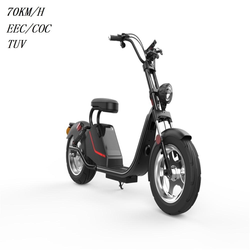 EUR Stock EEC/COC 1500 W/3000 batería 60 V 20ah Scooter Eléctrico bicicleta 45 km/h bicicleta eléctrica bicicleta ciudad Coco para adultos
