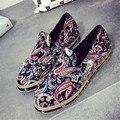 Женщины бренд холст обувь бренда дизайнер этнических мокасины обувь туфли на платформе плоские ботинки квартиры moccasines mujer XK120305
