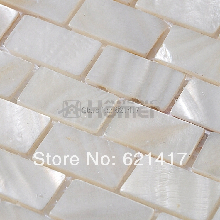 Free Shipping , White Mother Of Pearl Mosaic Tiles Brick Freshwater Shell  Mosaic, Kitchen Backsplash Tiles, Bathroom Mosaic Tile In Wall Stickers  From Home ...