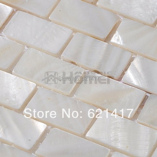 free shipping white mother of pearl mosaic tiles brick freshwater shell mosaic kitchen backsplash