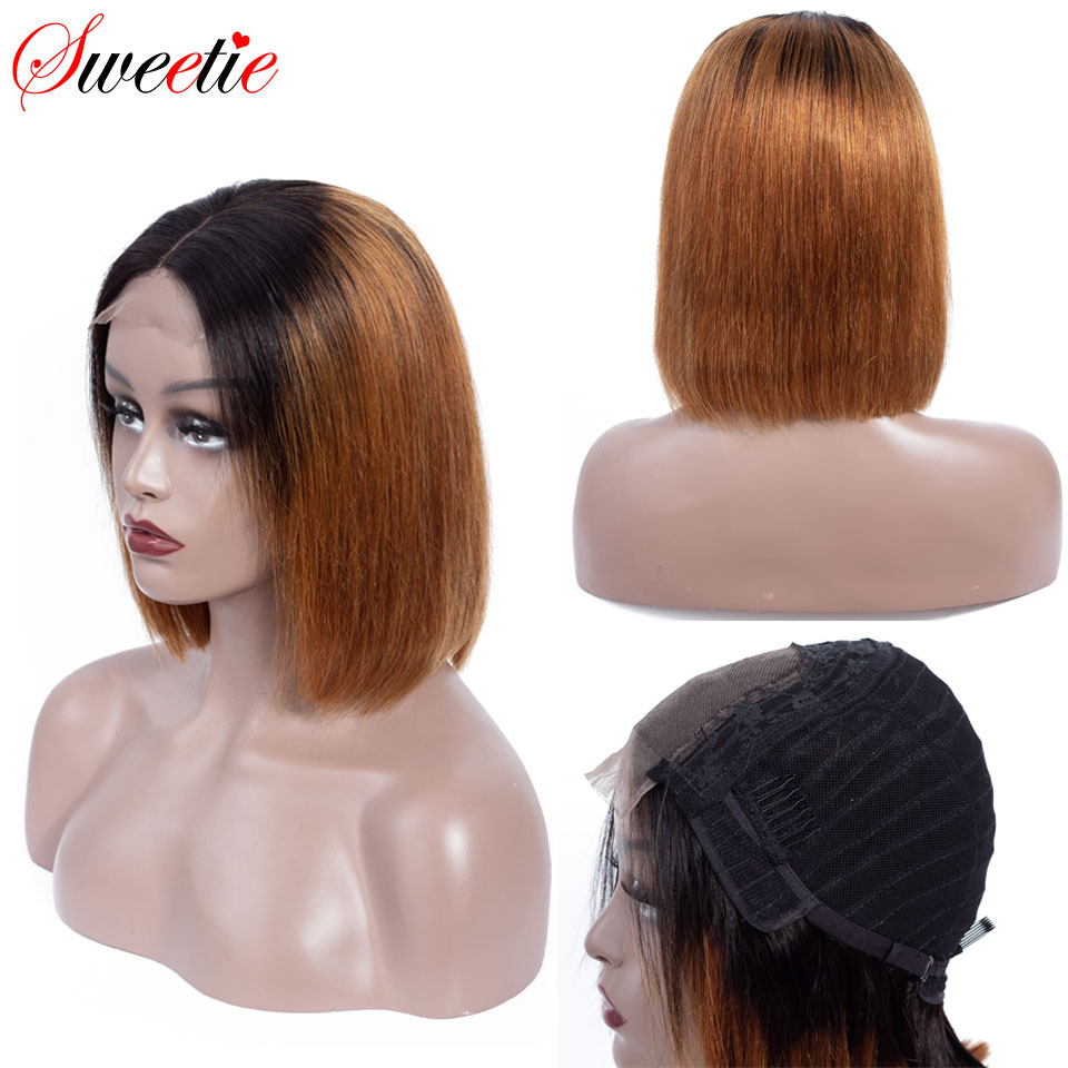 Sweetie Short Bob Lace Front Wigs 1b 30 Color Ombre Lace Front Human Hair Wigs For