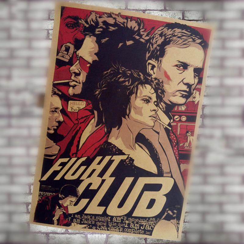 Fight-club-Movie-Vintage-Paper-Posters-Retro-art-Wall-Decoration-30X42-CM-bar-cafe-decoration
