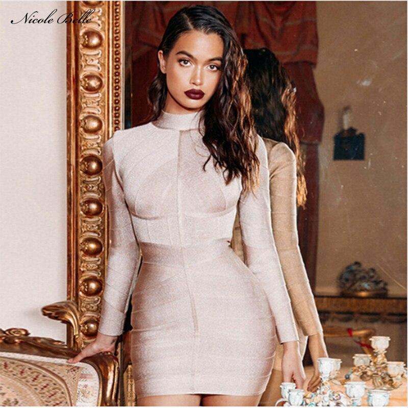 Nicole Belle 2017 Chic Winter Bandage Dress Celebrity