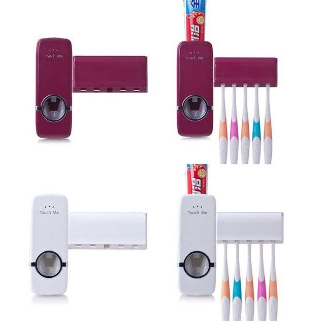 1 Set Portaspazzolino Distributore Automatico di Dentifricio Squeezer Bagno Set